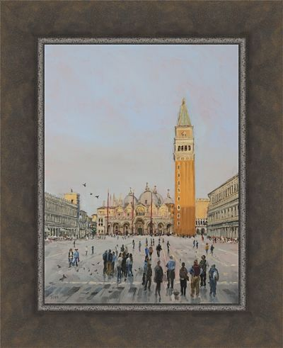 An original painting in oil of St.Mark's Square, Venice